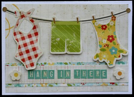 Kim - 100 Days - Hang in There Card