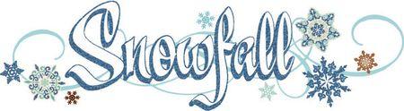 Snowfall logo GLITTER