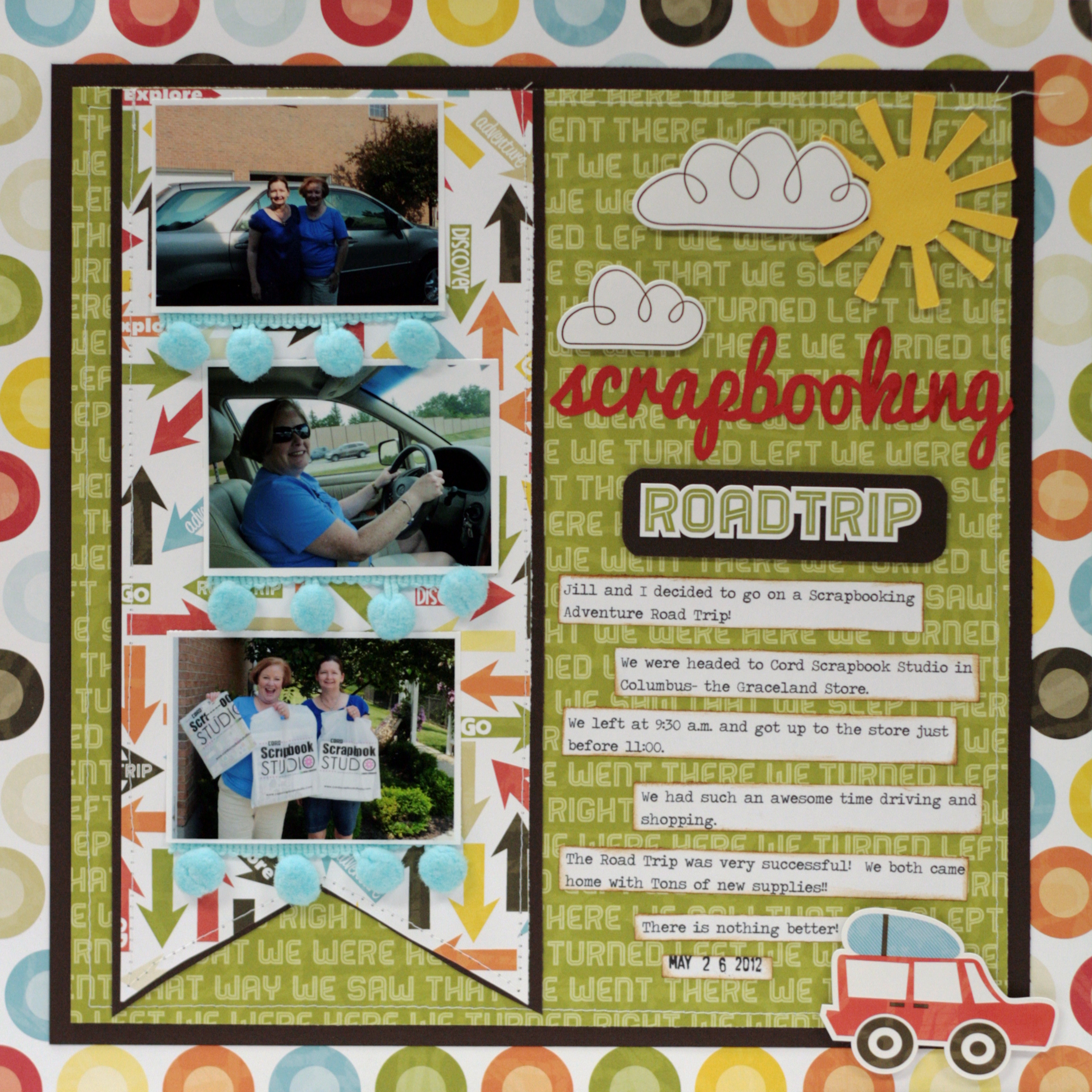 How to scrapbook a road trip -  Scrapbooking Road Trip Layout By Mary Pat Siehl