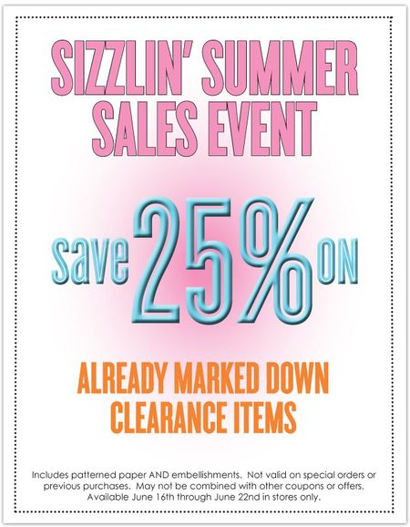 Summer Sales Clearance Fixed